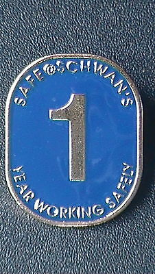 """Schwan's Fine Foods """"1 Year Working Safely"""" Lapel Pin"""