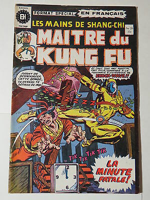 MAITRE DU KUNG FU 28  B&W French comic Heritage Marvel 42  from 1976