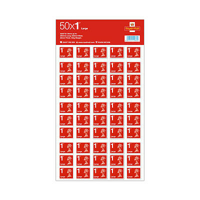 NEW 50 x Large Letter Royal Mail First 1st Class LARGE Postage Stamps OFFER!!!
