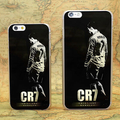 CR7 Cristiano Ronaldo Design hard transparent clear Skin Cover Case for iPhone