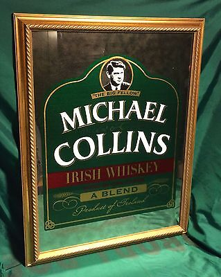 Michael Collins Big Fellow Irish Whiskey Mirror New Orig. Box St. Patricks Day