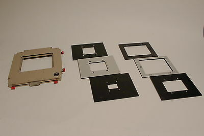 DeVere 504 Universal Negative Carrier Darkroom Enlarger Large Format + 6 MASKS