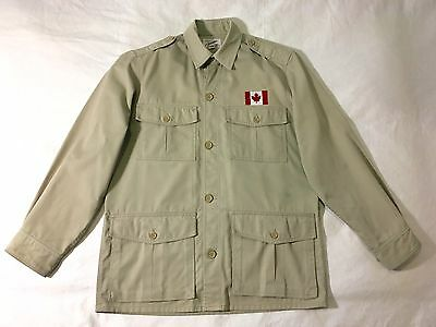Tilley Endurables Vintage Field Safari Outdoor Jacket Patched Small