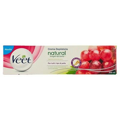 Veet Crema Depilatoria Natural Inspirations Per Tutti I Tipi Di Pelle 200 ml
