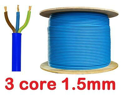 BLUE Arctic Grade Cable 3183 AG 3 Core 1.5mm Flex Outdoor Wire sold per metre