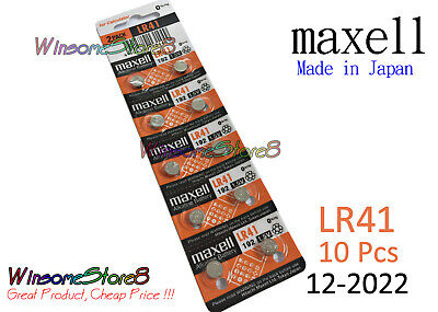 10pcs Maxell LR41 192 A63 AG3 384 1.5V cell coin button battery 2022 NEW