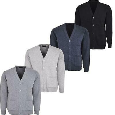 Mens Knitted Cardigan Classic Button Front V Neck Knitted plus size cardigans