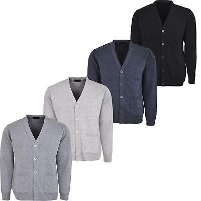 Mens Knitted Cardigan Classic Button V Neck Knitted Cardigans