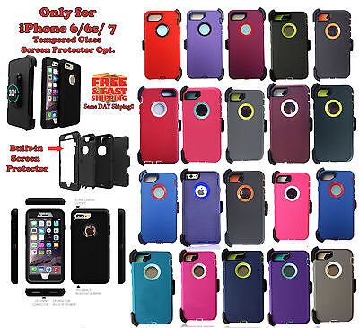 New Defender Case & Belt for Apple iPhone 8 7 6 6s [Clip fits otter box]