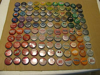 100 + 10 = 110 DIF   UNUSED SODA POP BOTTLE CAPS  ROOT beer  7UP  PEPSI COKE