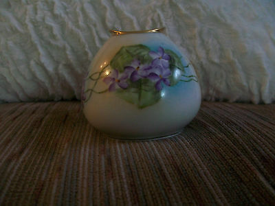 Small floral vase RS Germany Beautiful Violets MINT