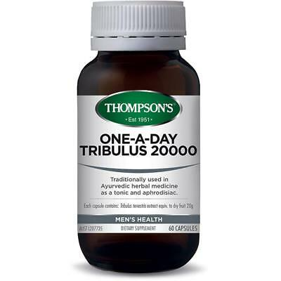 Thompsons One-A-Day Tribulus 20000 60 Capsules Mens Health Tonic And Aphrodisiac