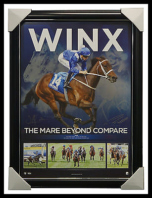 Winx The Mare Beyond Compare Facsimile Dual Signed Sportsprint Framed OFFICIAL