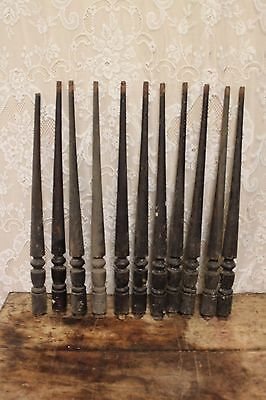 "10 Salvaged Antique Walnut 26.5"" Staircase Baluster Spindles"