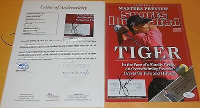 Tiger Woods Signed autograph Sports Illustrated w/PROOF JSA