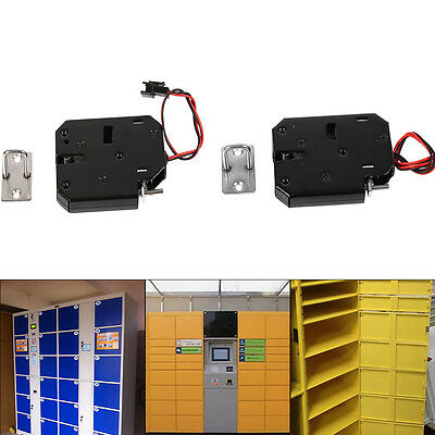 DC 12V 2A Electromagnetic Electric Control Cabinet Drawer Lockers Lock Latch BT