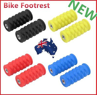 Bright Color Resin Footrest Foot Pegs Rest Pedal for Passengers Bike Pedal FZ