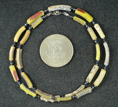 Ancient Roman Glass Beads 1 Medium Strand 100 -200 Bc 664