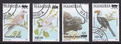 NAMIBIA - 2005 - Flowers & Animals, opt. Complete set, 4v. First day stamp