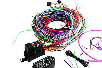 Hot Rod Arc Eazy Wiring Harness Kit 12 Circuit Mini Fuse Box - Suit Ford, Chev