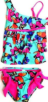 NEW Justice Girls tankini butterfly bathing swim suit summer swimsuit sz 12 NWT