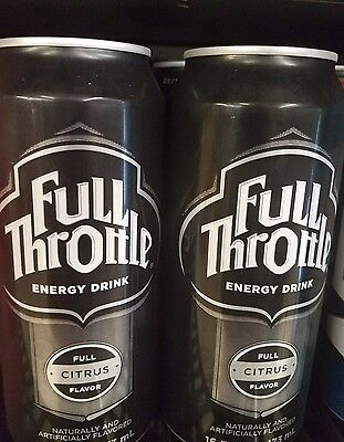 Full Throttle Energy Drink Can  16 oz X 2 RARE CANS