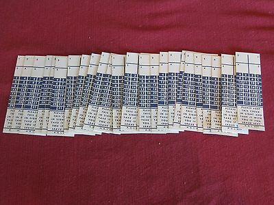 Lot 25 Vntg Blue LIRR Conductor Pd Ticket Validation Check Unused/Unpunched NOS