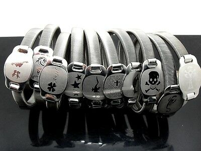 10x Different style MIX Fashion Men Stainless Steel Bracelets Punk Wristbands