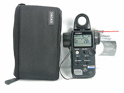 """MINT"" Sekonic L-758D Digital Master Light Meter w/case FREE SHIPPING JAPAN"