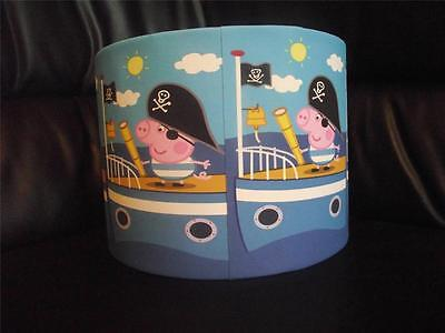 "GEORGE PIG PIRATE - peppa pig 10"" DRUM CEILING LAMPSHADE LIGHTSHADE"
