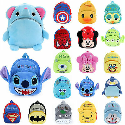 Lot Baby Kids Boy Girl Plush Animal Backpack Cartoon Small Shoulder School Bag