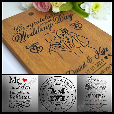 Personalised Wedding Anniversary Gift Card Present For Bride Groom