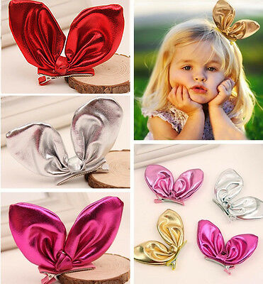 Girl Headwear Bunny Ear Hair Clips Kids Hairpins Baby Headdress Hair Accessories
