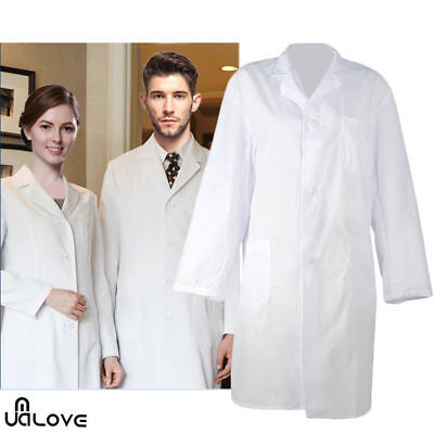 Unisex White Lab Coat Laboratory Warehouse Doctor Medical Food Hygiene Work Wear