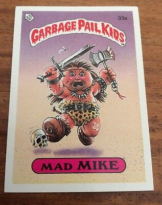 Mad Mike 33a Garbage Pail Kids (1985) UK 1st Series Sticker/1980's/Topps