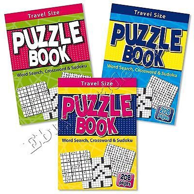 Tallon Travel Size Puzzle Book - Contains Word Search Crossword Sudoku Puzzles