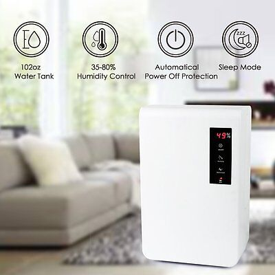LAGUTE LG-A10 Electric Dehumidifier Humidity Meter Control 3L for Office Home