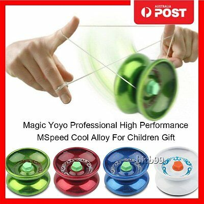 Aluminum Alloy Professional YOYO Ball Bearing String Trick Toy Kids Children AU