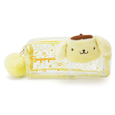 Pom Pom Purin PVC Pen Case Pencil Pouch Plush Face ❤ Sanrio Japan