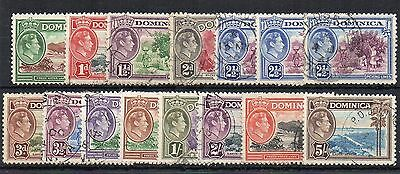 Dominica 1938-47 values to 5s FU CDS