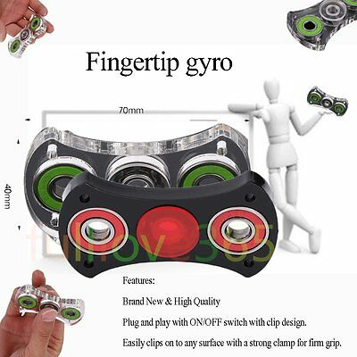 Acrylic Finger Tip Gyro Hand Spinner Anti Stress Killing Time Toy Entry Level AU