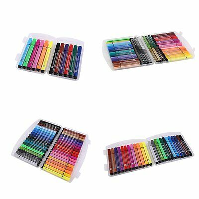 12/24/36/48Color Watercolor Pens Kids Washable Art Marker With Triangular Box AU