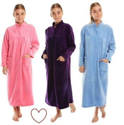 Ladies Fleece Dressing Gown Plus Size 10-28 Bathrobe