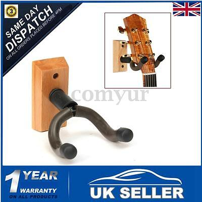Wooden Bass Guitar Ukulele Banjo Wall Hanger Stand Hook Bracket Mount Equipment