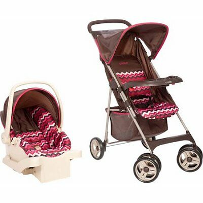 Cosco Commuter Compact Travel System Chevron Raspberry  884392585631