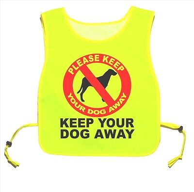 Keep Your Dog Away Yellow tabard Walking Training 07