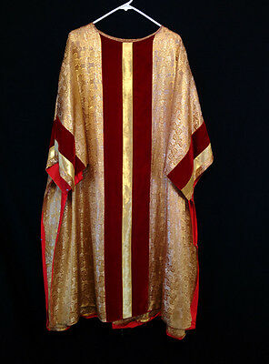 Metallic GOLD BROCADE DALMATIC Deacon Vestment Church Clergy Robe Priest