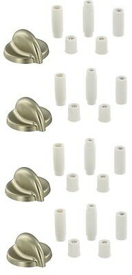 4 X Cooker Oven Hob Knobs For KENWOOD Silver Chrome Control Knobs & Adaptor