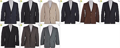 JOB LOT OF 9 VINTAGE SUIT JACKETS - Mix of Era's, styles and sizes (21233)*
