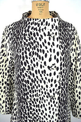 3be3c52676f VINTAGE 60s TRAVELCOATS BY NAMEN CHEETAH SNOW LEOPARD PRINT LIGHT COAT M L